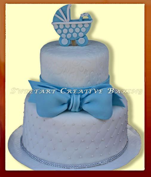 Stroller baby boy cake