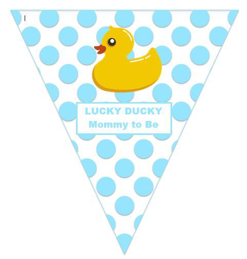 Lucky Ducky:  Mommy-to-Be (Boy's Baby Shower)