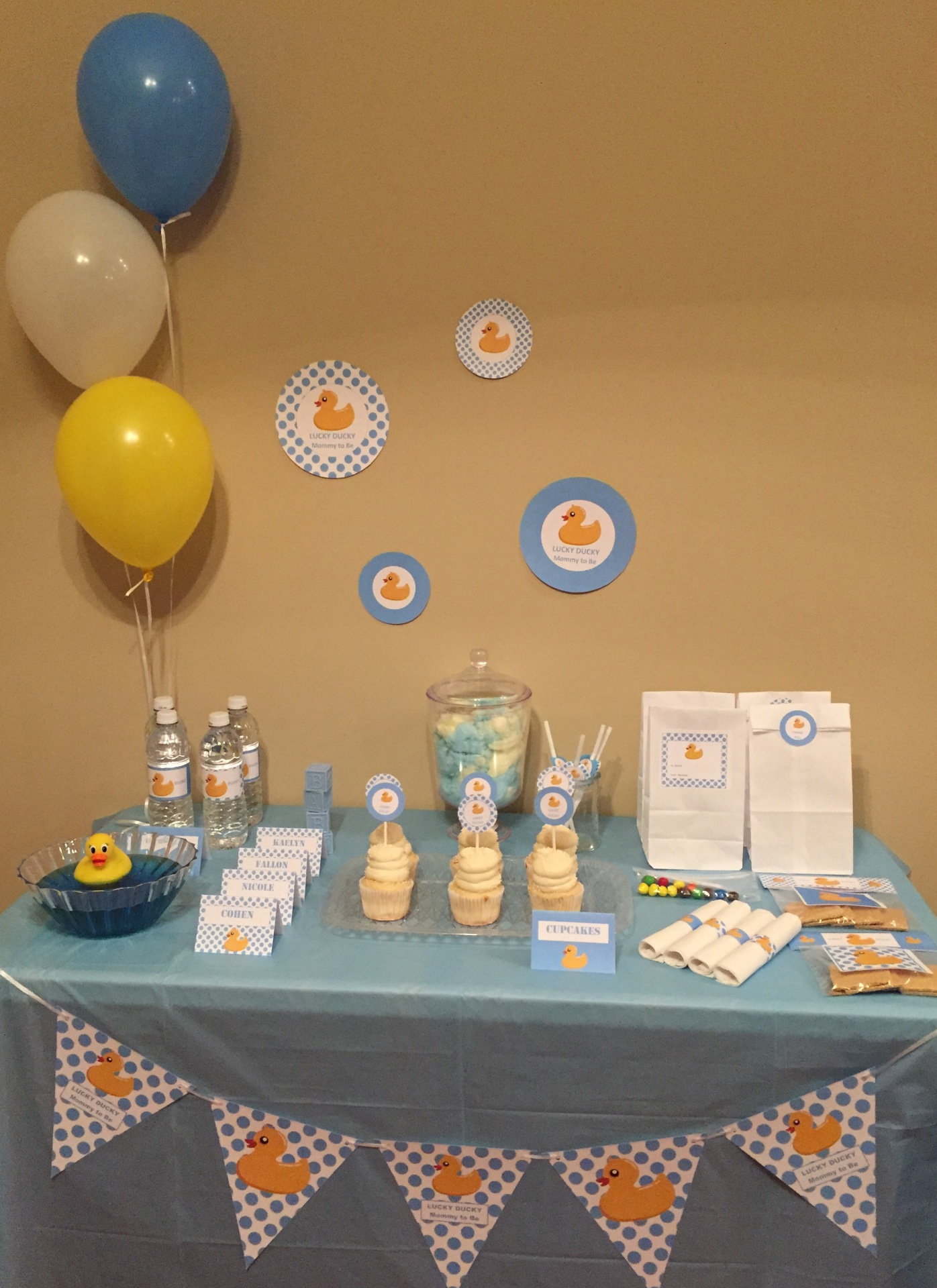 Baby Shower Boy Lucky Duck Mother to Be