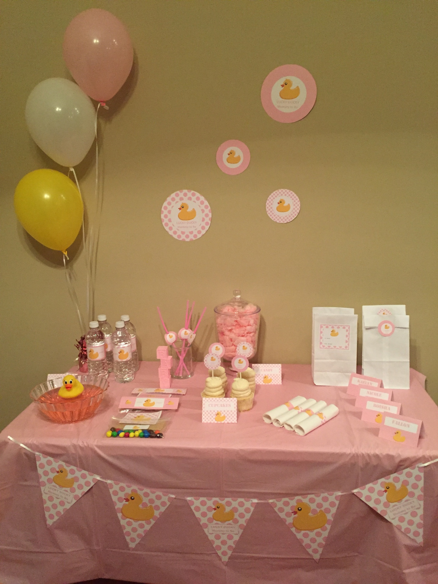 Baby Shower Girl Lucky Ducky Mommy to Be