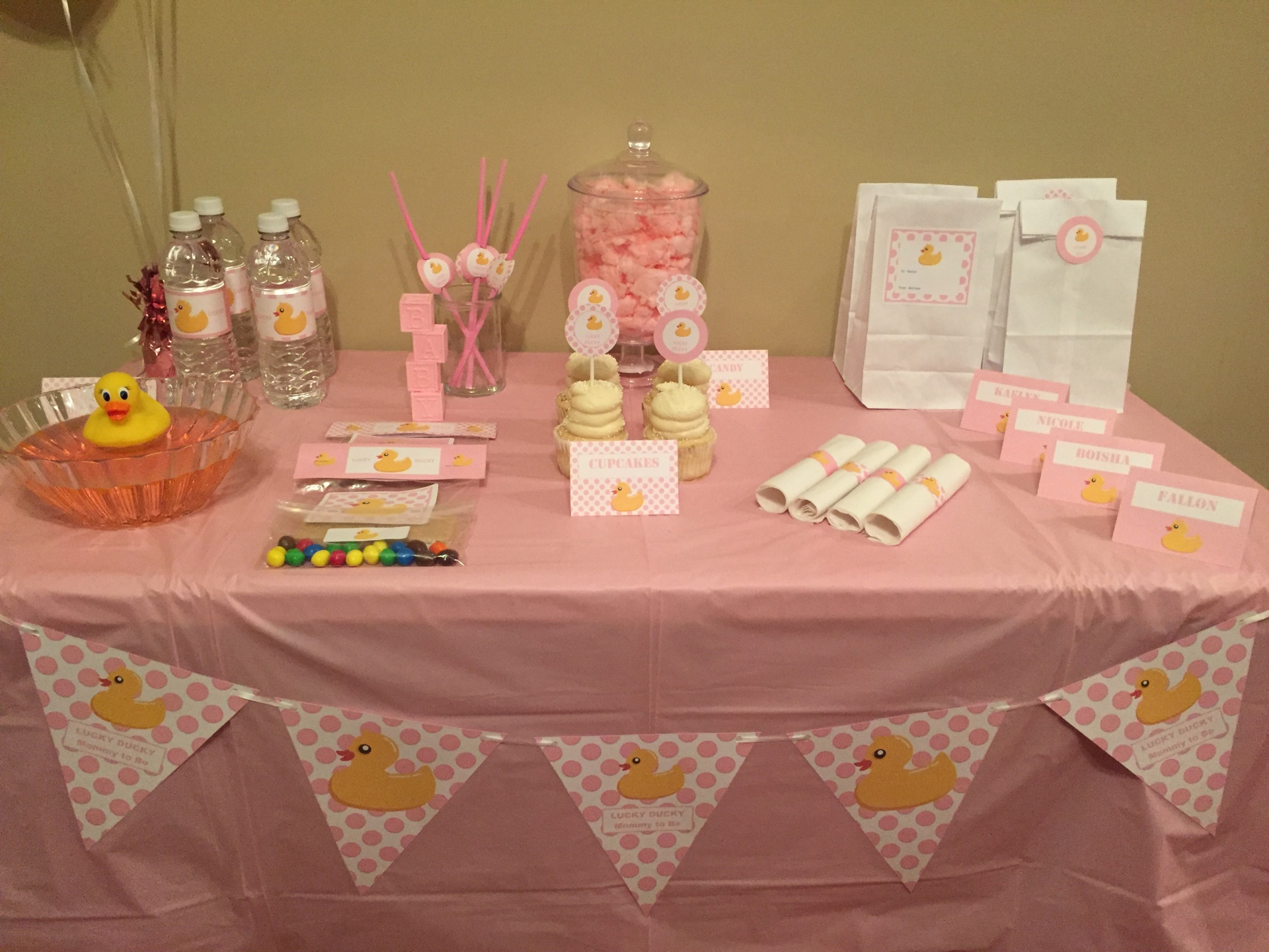 Girl Baby Shower Baby Lucky Ducky Mommy to Be