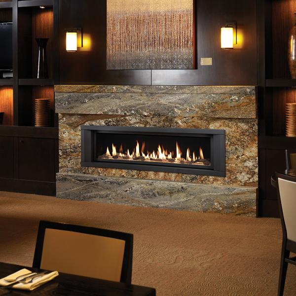 DaVinci linear gas fireplace