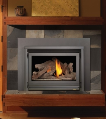 616 gas insert with driftwood