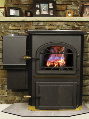 side hopper coal stove by Leisure Line