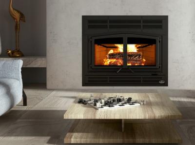 wood fireplace by Osburn