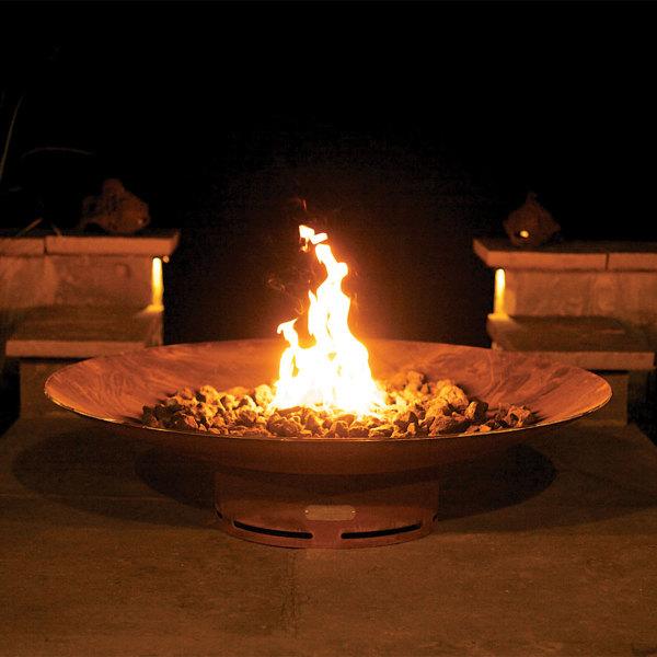 Fire Bowl w/ Cross Fire Brass Burner
