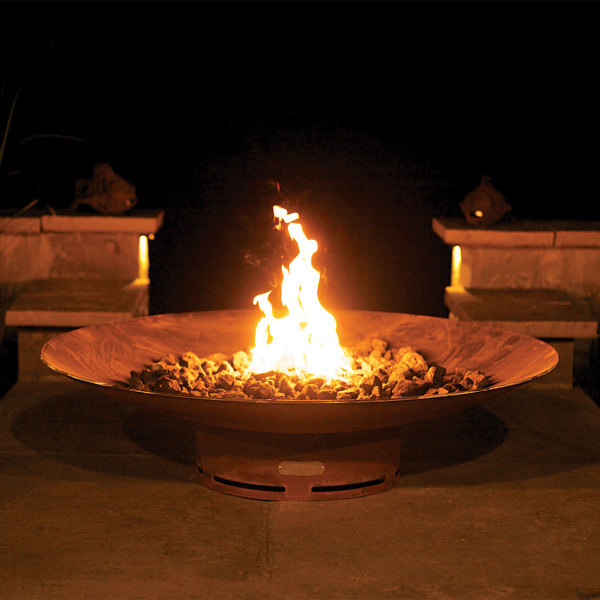 Fire Bowl w/ Cross Fire Brass Burner