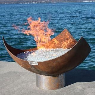 Triangular Fire Sculpture