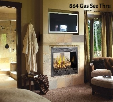 864 Lopi See Thru gas fireplace