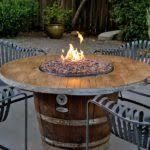 Fire Table w/ Cross Fire Brass Burner