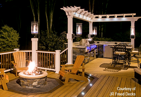 Tempest Torch & Warming Trends outdoor lighting , firepit