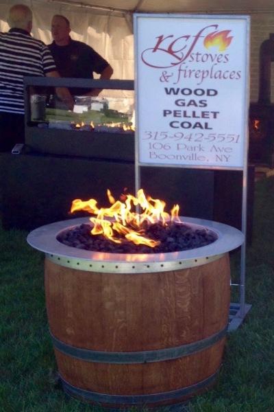 Fire Wine Barrel made by Blake