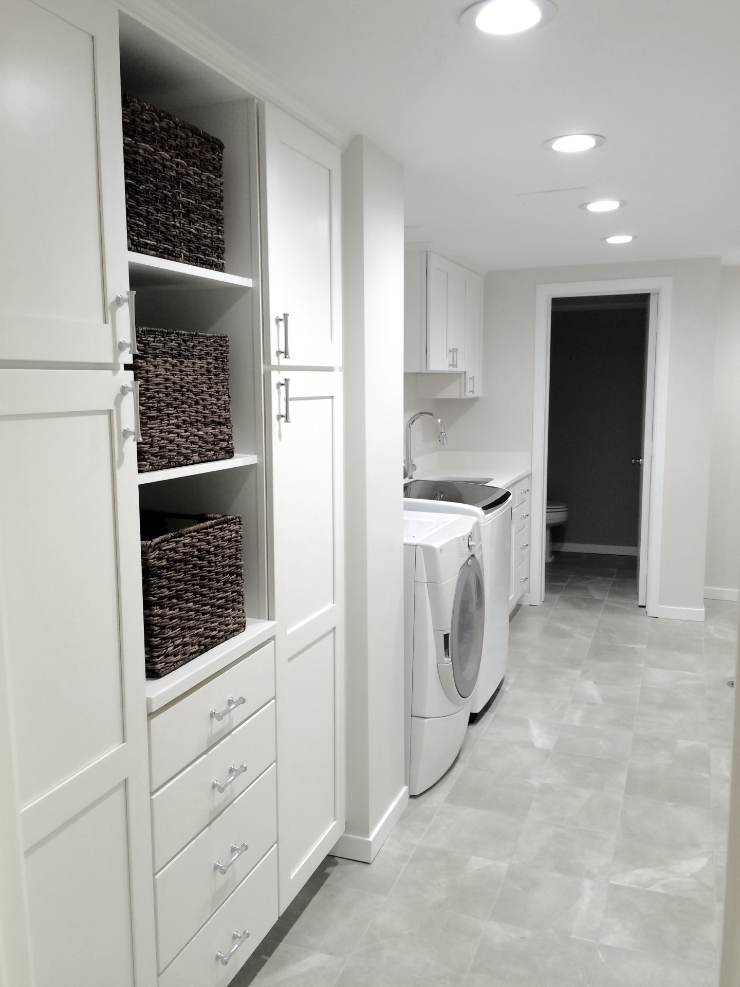Lower Level Laundry Room in Bloomfield Hills