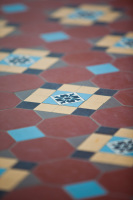 Camberwell House renovation of Victorian home. Designed by sustainable architect Green Point Design. Tessellated tiles.