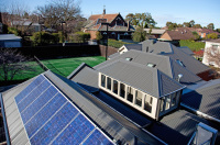 Camberwell House renovation of Victorian home. Designed by sustainable architect Green Point Design. Solar panels.