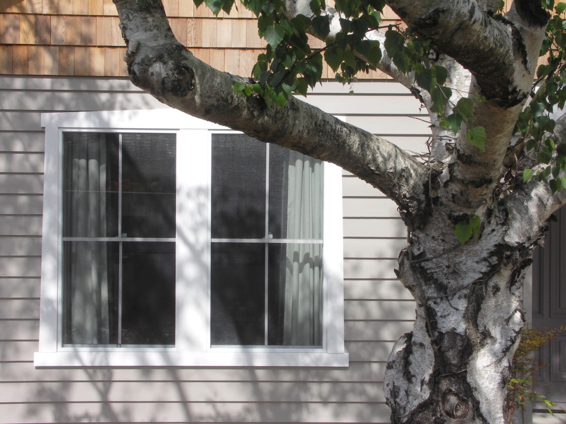 Daylesford House designed by sustainable architect Green Point Design. Window detail.