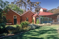 Castlemaine Outbuildings designed by sustainable architect Green Point Design. Renovated stables.