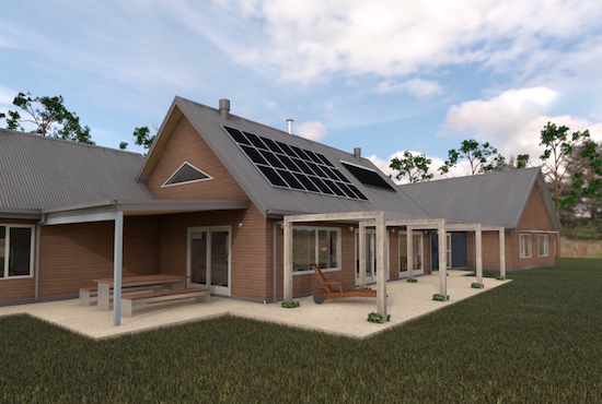 Gisborne House designed by sustainable architect Green Point Design. Energy efficient bushfire-zoned property. 3D technology.
