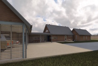Gisborne House designed by sustainable architect Green Point Design. Driveway and carport.