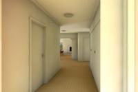 Gisborne House designed by sustainable architect Green Point Design. Hallway.