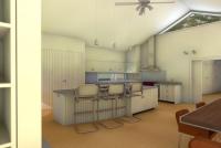 Gisborne House designed by sustainable architect Green Point Design. Kitchen.