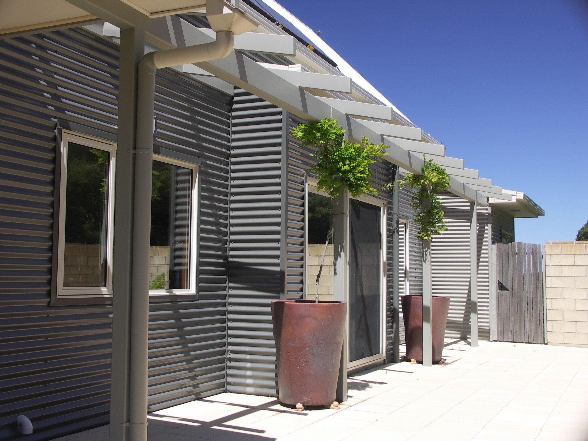Lavers Hill House designed by sustainable architect Green Point Design. North facade.