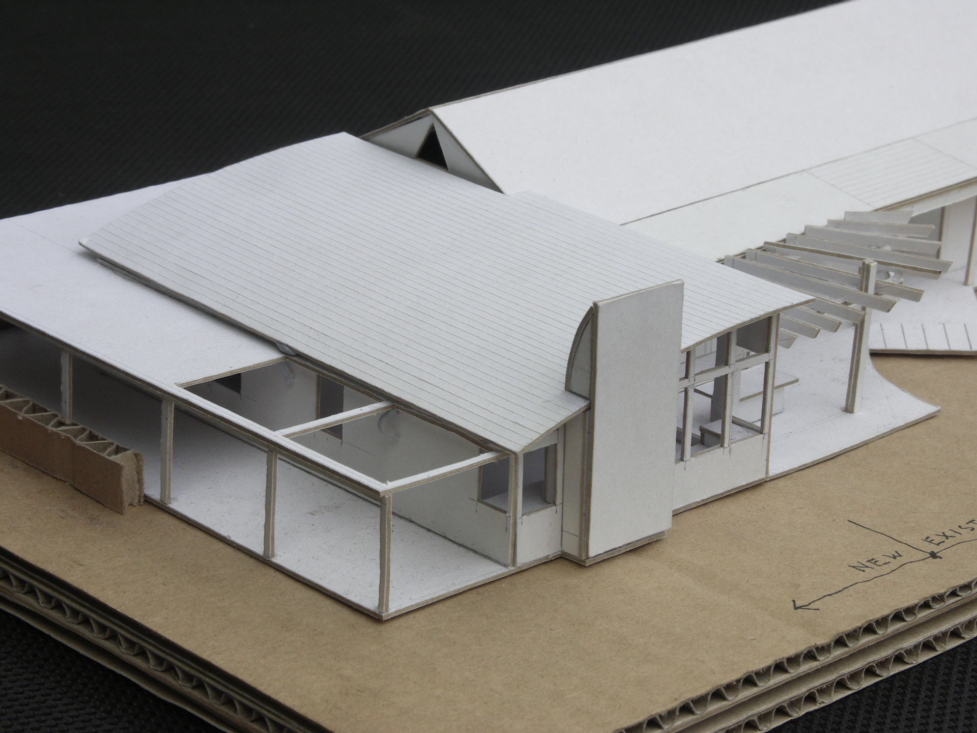 Hepburn House designed by sustainable architect Green Point Design. Architect's model.