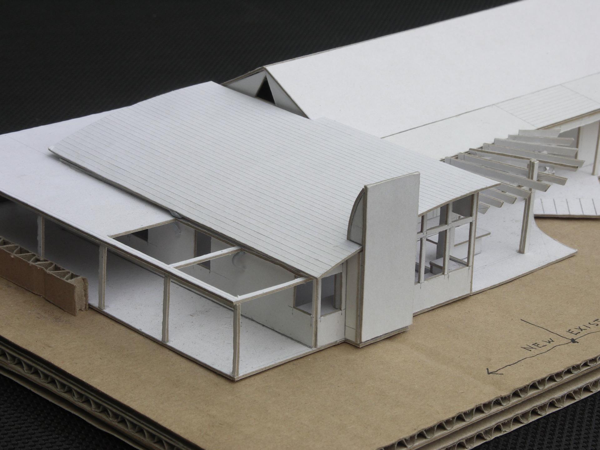 Hepburn House designed by sustainable architect Green Point Design. Architect's model.
