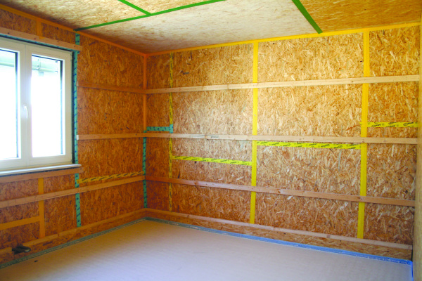 Airtight connectors in a Passive House under construction. Green Point Design are Certified Passive House Designers.