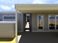 Ballarat 2 House Renovation back verandah designed by Green Point Design, Passive House Architect.