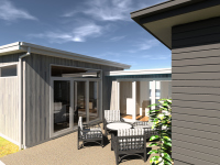 Ballarat 2 House renovation courtyard designed by Green Point Design, Passive House Architect.