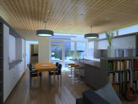 Ballarat 2 House renovation kitchen designed by Green Point Design, Passive House Architect.