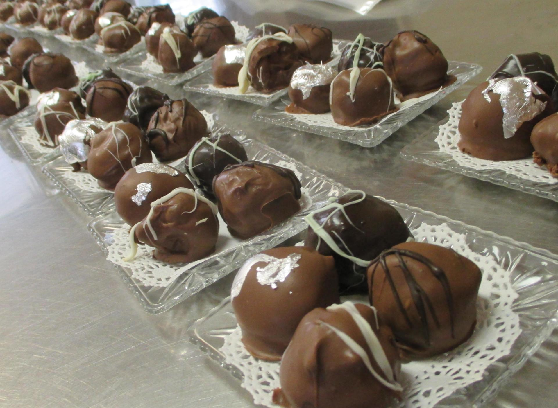 Silver Embossed Truffles