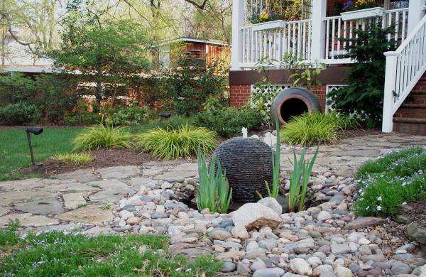 Small Open Pool Fountain.