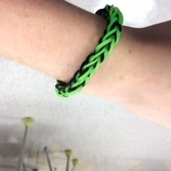 Green and Black French Braid Bracelet Product #: 804Q $1:50
