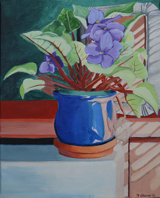 Violets In The Window