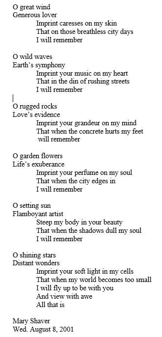 Hymn to Gabriola