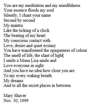Love Poem (for David)