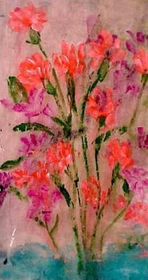 "Carnations (2003)  acrylic on canvas  11"" x 20"""