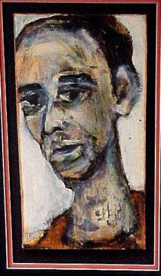 """Self (1999)   acrylic  on wood 18"""" x 24"""""""