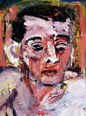 "Man (2005) acrylic  on file folder 13"" x 15"""
