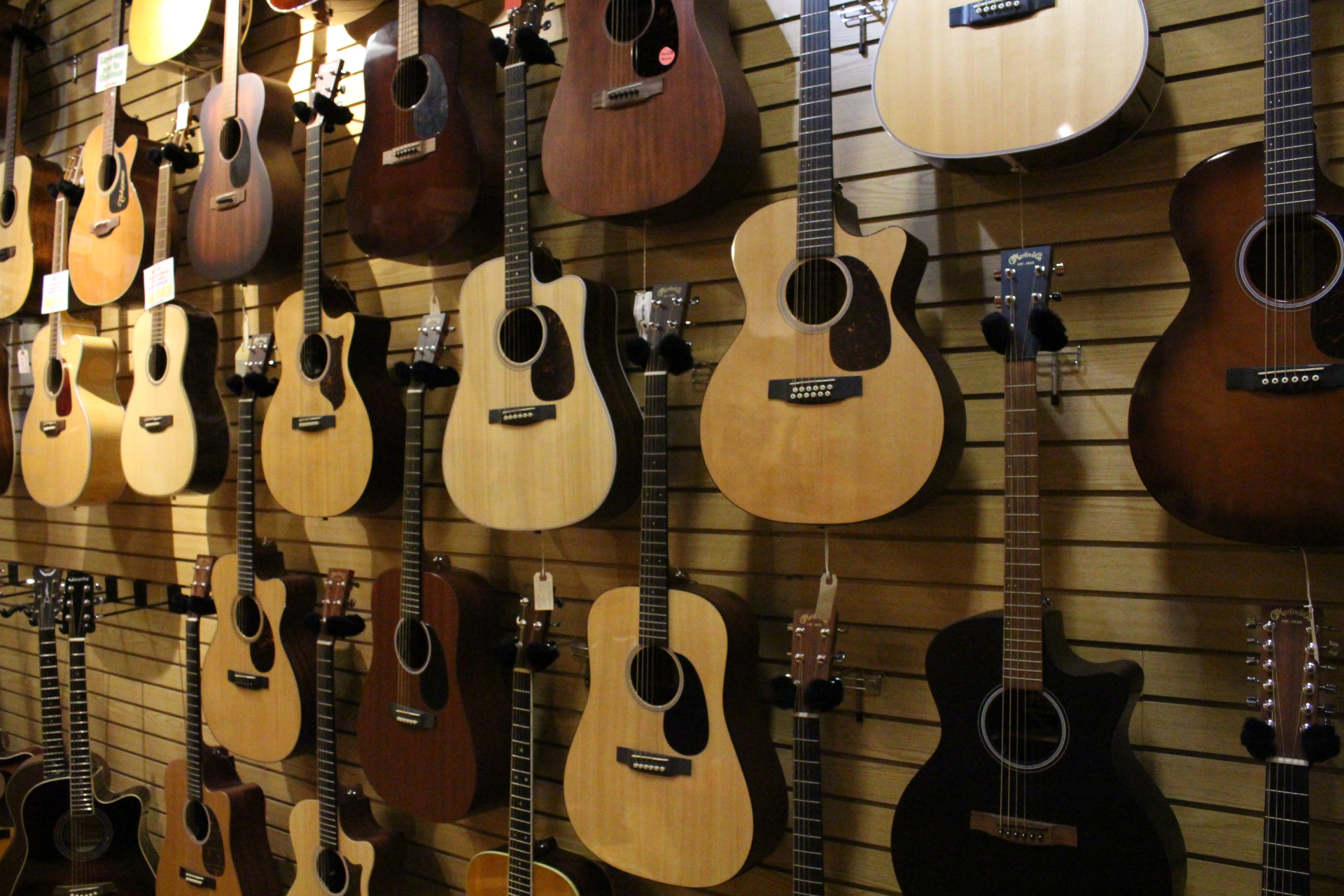 Check Out Our Martin Guitar Wall!