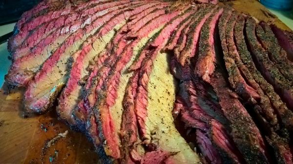 texas, beef, brisket, smoky, hickory, smoked,