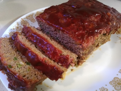 Hickory Smoked Meatloaf With a BBQ/Ketchup Glaze!