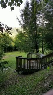 Deck above garden