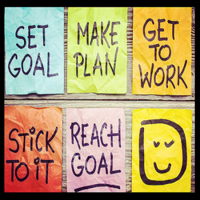 Set Goal Make Plan Stick to it Reach Goal