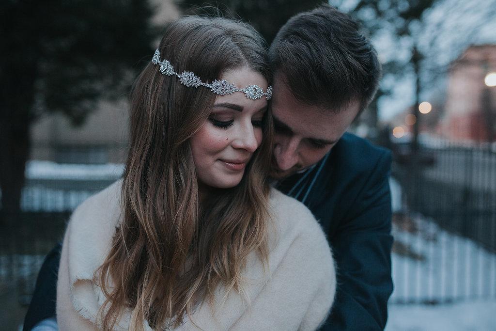 boho bride and groom