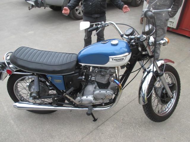 Triumph bike repaint