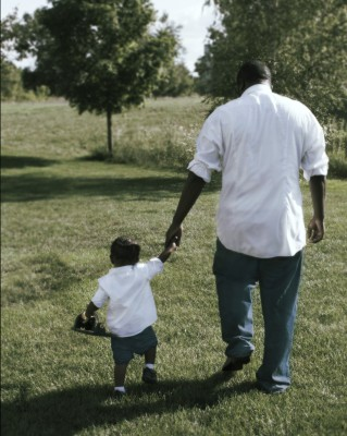 Dad holding child hand by HamiJeezy