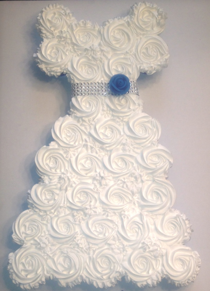 Bridal Shower Cupcake Cake
